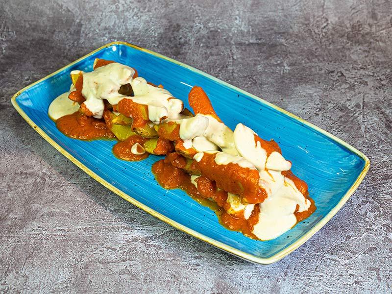 Patatas bravo cabrales   Restaurante asturiano Couzapín